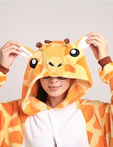 ... Kigurumi Pajamas with Slippers Giraffe Onesie Pajamas Coral fleece  Orange Cosplay For Men and Women Animal Sleepwear Cartoon Festival   Holiday  Costumes 3d6783ba3