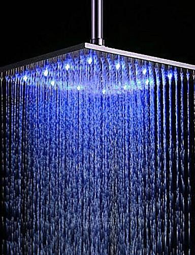 abordables Pommeaux de Douche LED-Moderne Douche pluie Fileté Fonctionnalité - Effet pluie LED, Pomme de douche
