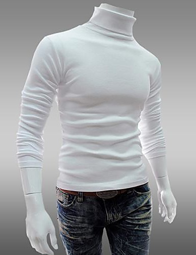 abordables Pulls & Gilets Homme-Homme Quotidien / Sports / Fin de semaine Rétro Couleur Pleine Manches Longues Mince Normal Pullover Violet / Rouge / Gris Clair L / XL / XXL