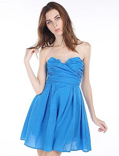 voordelige Sexy jurken-Dames Feest Jurk - Effen Boven de knie