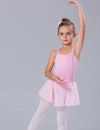 preiswerte Ballettbekleidung-Tanzkleidung für Kinder / Ballett Kleider / Balletröckchen Damen Baumwolle Schleife(n) Ärmellos