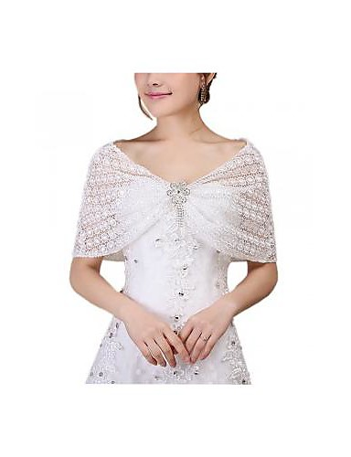 12de7f3d7bd womens blonder bryllup brude wrap sjal tørklæde cape fest 2370893 ...