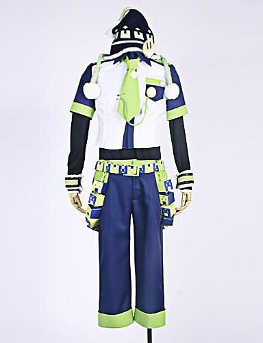 billige Cosplay og kostumer-Inspireret af Dramatical Murder Noiz Anime Cosplay Kostumer Cosplay Kostumer Patchwork Trøje / Bukser / Ærmer Til Herre