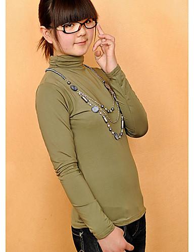 Damen Solide - Grundlegend Baumwolle T-shirt