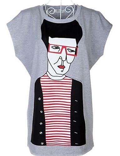 Damen Porträt-Street Schick T-shirt