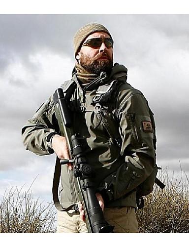 573b24013e703 Men's Hunting Jacket Outdoor Waterproof Warm Spring Fall Winter Cotton  Elastane Fleece Jacket Hoodie Softshell Jacket Camping / Hiking Army Green  Grey Khaki ...