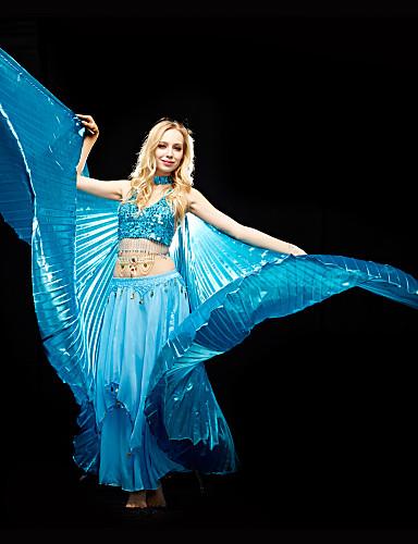 Göbek Dansı Üstler Kadın's Eğitim Polyester Payet Sütyen