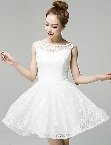 Vestido blanco coctel encaje