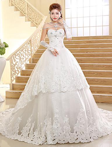 b9fa3deae820 Vestito da cerimonia nuziale del merletto del treno della cattedrale  dell innamorato dell abito