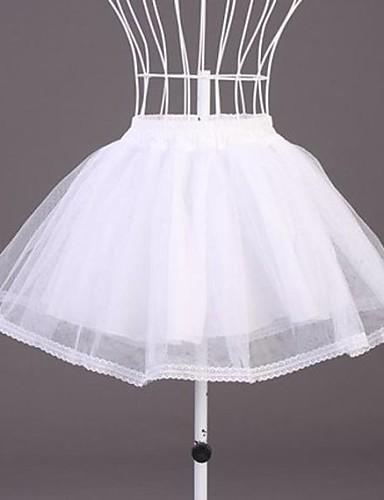 abordables Dessous de Robe de Mariage-Mariage Occasion spéciale Déshabillés Polyester Organza Longueur courte Robe trapèze avec Dentelle
