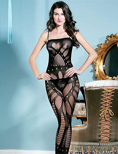 Dames Kanten lingerie Ultrasexy Nachtkleding Nylon Spandex Zwart