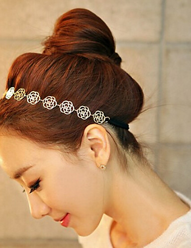 Women's Vintage Cute Party Work Casual Alloy Headband - Solid Colored