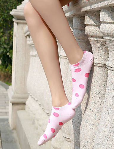 Women's Korea Lovely Spot Color Pure Cotton Thin Socks