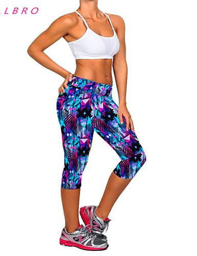 Women YOGA Running GYM sport Pants Cropped Leggings Fitness Stretch Trouser