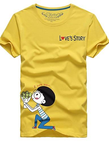 T-shirt Per Uomo Moderno Con Stampe - Personaggi Di Cartoni Animati Azzurro Chiaro Xxxxl - Manica Corta - Estate #03154860
