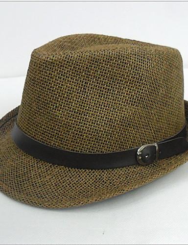Erkek İş/Günlük Yaz Hasır Erkek Fedora Şapka