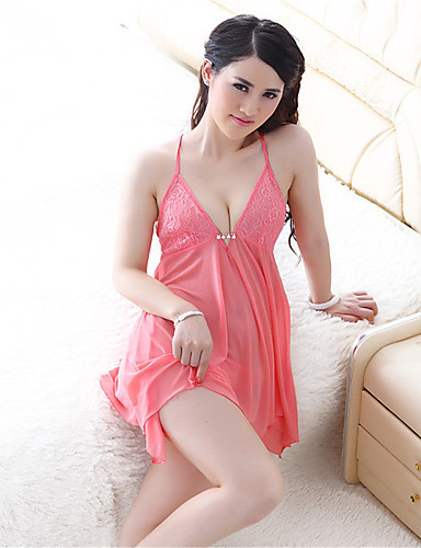 SKLV Women's Organza Chemises & Gowns/Ultra Sexy Backless Nightwear/Lingerie
