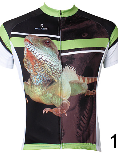 cheap Cycling Clothing-ILPALADINO Men's Short Sleeve Cycling Jersey - 6# 7# 8# Bike Jersey Top Breathable Quick Dry Back Pocket Sports Polyester 100% Polyester Terylene Mountain Bike MTB Road Bike Cycling Clothing Apparel