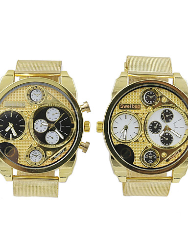 SHIWEIBAO Stainless Steel Double Time Zone Of Male Golden Military Watches Cool Watch Unique Watch