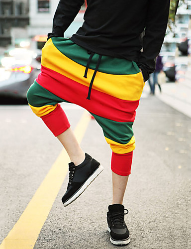Bayanlar Günlük Harem Polyester/Pamuk Karışımlar Streç Bayanlar Pantolon