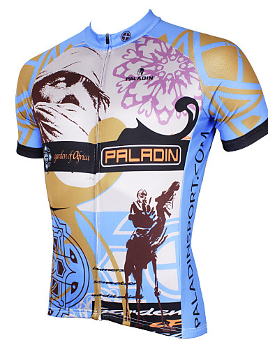 cheap Cycling Clothing-ILPALADINO Men's Short Sleeve Cycling Jersey - Grey Bike Jersey Top Breathable Quick Dry Ultraviolet Resistant Sports Polyester 100% Polyester Terylene Mountain Bike MTB Road Bike Cycling Clothing
