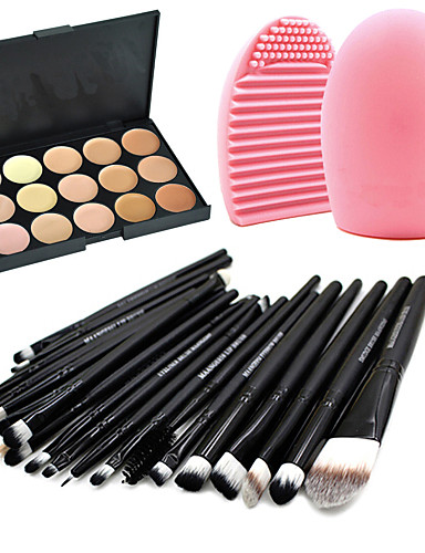 763879ffddc1 Professional Makeup Brushes Makeup Brush Set 20pcs Portable Travel  Eco-friendly Professional Full Coverage Goat Hair   Pony   Synthetic Hair  Wood Makeup ...