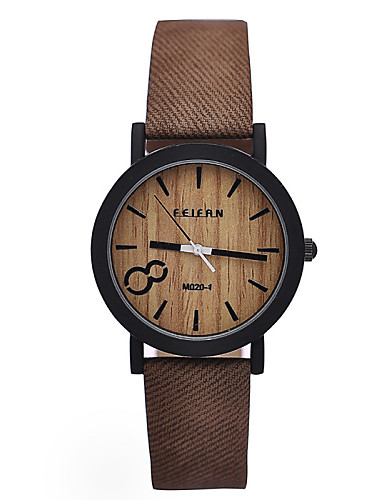 Simulation Wooden Relojes Quartz Men Watches Casual Wooden Color Leather Strap Watch Wood Male Wristwatch