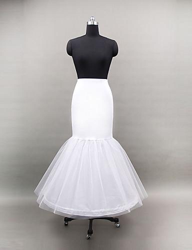 billige Truser til bryllup-Bryllup Spesiell Leilighet Underkjoler Polyester Tyll Gulvlengde Havfrue og Trompet Kjole Slip med