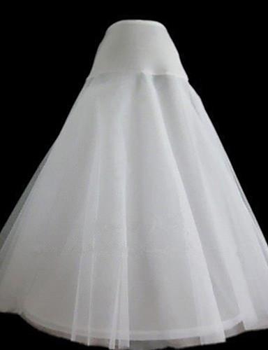 ieftine Jupon de Nuntă-Nuntă Party / Seara Cămăși de noapte Nailon Tulle Lungime până la gambe A-Line Slip Clasic & Fără Vârstă cu Vopsit
