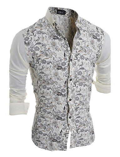 Men's Shirt - Floral Classic Collar