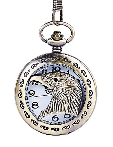 Masculino Relógio de Bolso Quartzo Lega Banda Prata