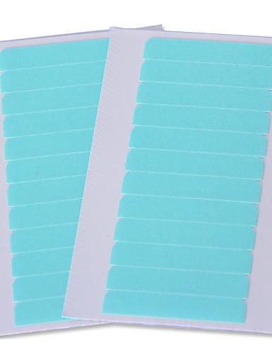 preiswerte Echthaar Perücken mit Spitze-Fasergemisch Wig anhaftender Kleber Klebebänder 1 bag*60pcs Verlängerungs-Werkzeuge