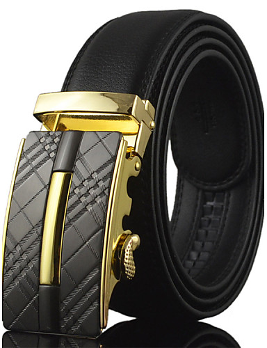 Men's Alloy Leather Waist Belt,Vintage Party Work Casual Solid