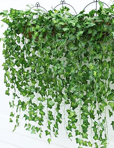 billige Rom-Kunstige blomster 2 Gren Pastorale Stilen Planter Veggblomst