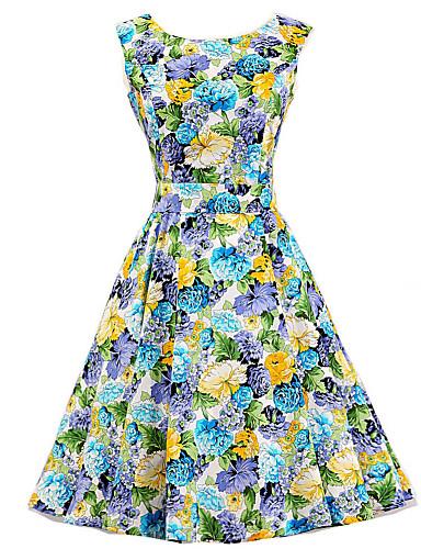 Women's A Line Dress - Floral, Flower