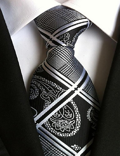 Men's Party / Work / Basic Polyester Necktie - Geometric Print / Cute / Multi-color