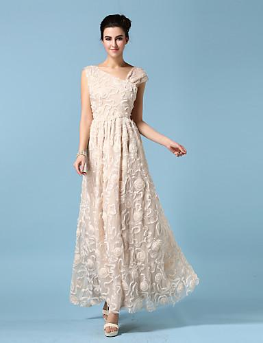 99822f64907d2 فستان الاشبينة - شامبانيا فستان عامودي أشرطة طول إلى الكاحل قماش كريب