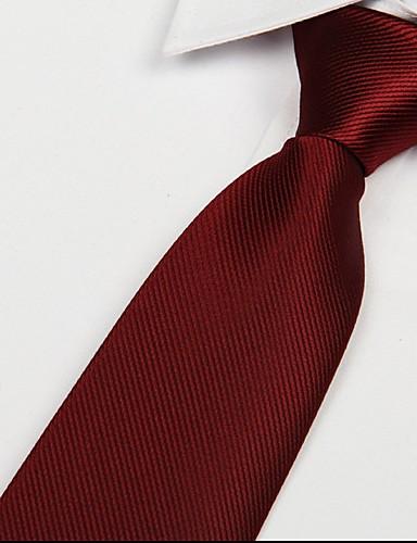 Erkek Parti İş Temel Polyester Boyun Bağı Çizgili