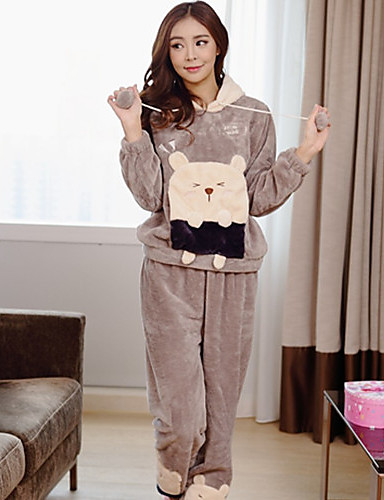 Women's Pajamas Thick Others Brown