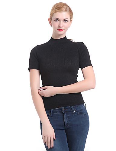 Damen Grundlegend Pullover - Solide