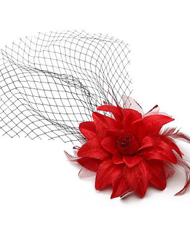 Uma Camada Casamento Véus de Noiva Véu Ruge / Véus de Noiva com Com Transparência / Renda Princesa
