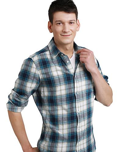 JamesEarl 남성 셔츠 카라 긴 소매 셔츠 & 블라우스 레드 - DA202046914