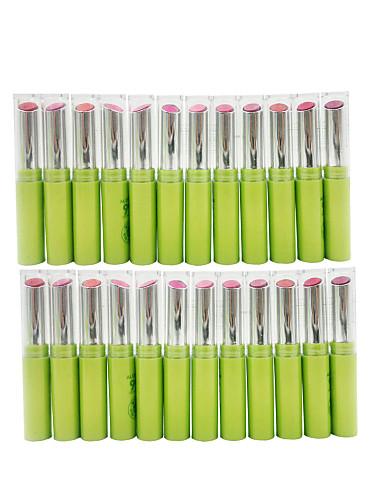 billige Leppe makeup-24 pcs 12 farger Hverdagssminke Sminkeredskap Leppestift Våt Fukt Sminke kosmetisk Daglig Pleieutstyr