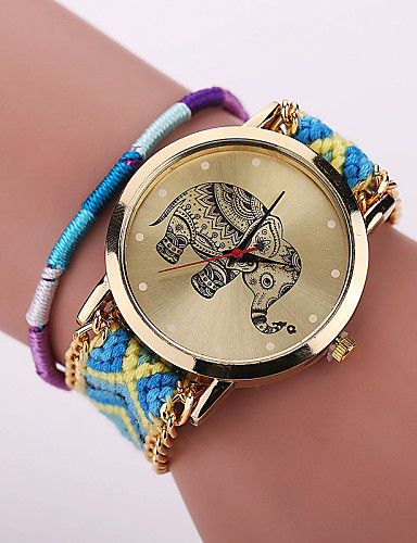 Xu™ Women's Bracelet Watch Casual Watch Fabric Band Flower / Bohemian / Fashion Multi-Colored / One Year / SODA AG4