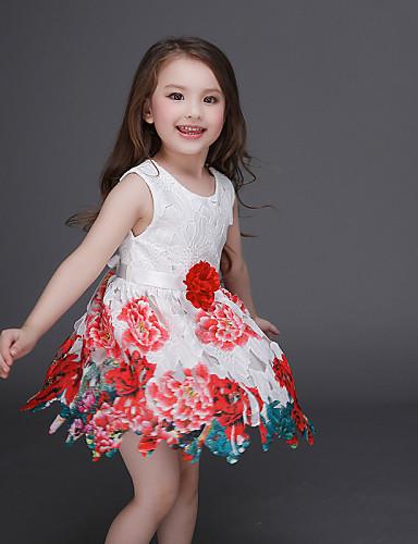 Djevojka je LjetoCvjetni print-Poliester-Ljeto-Više boja