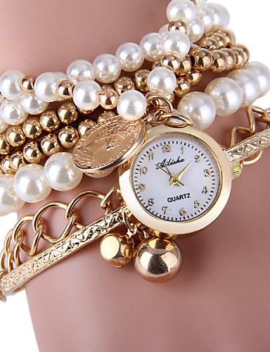 Women's Elegant Pearl Design Bracelet Quartz Wristwatch