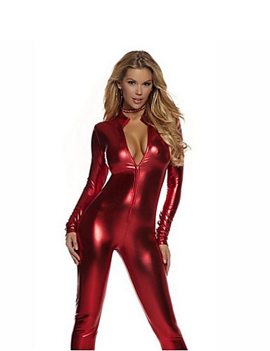 4c69492e0472 Zentai Suits Catsuit Skin Suit Ninja Adults' Cosplay Costumes Sex Red /  Golden / Silver Solid Colored Spandex Shiny Metallic Men's Women's  Christmas ...