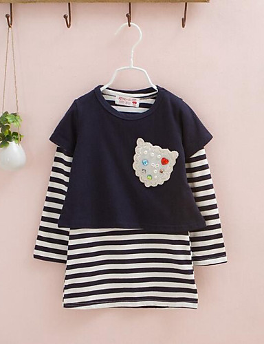 Girls' Floral Sets,Cotton Spring Fall Long Sleeve Clothing Set