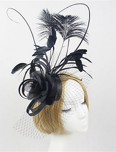 Damen Party, Stoff Haar Clip / Leinen / Spitze