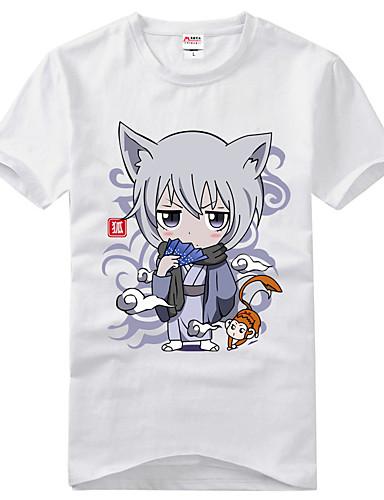 billige Cosplay og kostumer-Inspireret af Kamisama Kiss Tomoe Anime Cosplay Kostumer Japansk Cosplay T-shirt Trykt mønster Kortærmet T恤衫 Til Herre / Dame